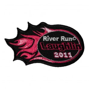 Embroidered 2011 Laughlin River Run Pink Flames Event Patch