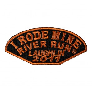 Embroidered 2011 Laughlin Half Moon Orange I Rode Mine Event Patch