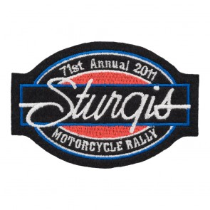 2011 Sturgis Motorcycle Rally 71st Annual Bar & Oval Patch_F