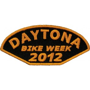 2012 Daytona Bike Week Half Moon Orange Event Patch