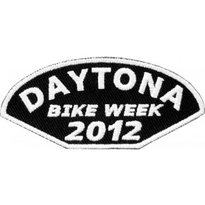 2012 Daytona Bike Week Half Moon White Event Patch