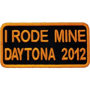 2012 Daytona Bike Week I Rode Mine Orange Event Patch