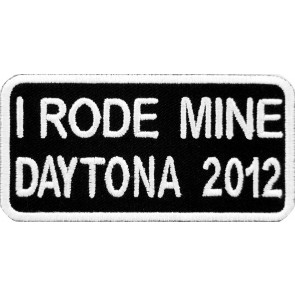 2012 Daytona Bike Week I Rode Mine White Event Patch