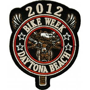 2012 Daytona Bike Week Biker Round Tab Event Patch