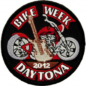 2012 Daytona Bike Week Guitar & Motorcycle Event Patch