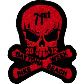 2012 Daytona Beach Bike Week 71st Skull & Crossbones Red Event Patch