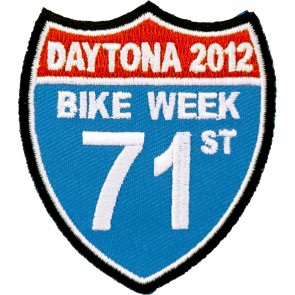 2012 Daytona Bike Week 71st Annual Road Sign Event Patch
