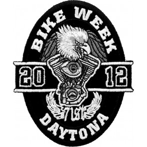 2012 Daytona Bike Week 71st Black Oval Eagle Event Patch