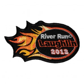 Sew On 2012 Laughlin River Run Orange Flames Event Patch