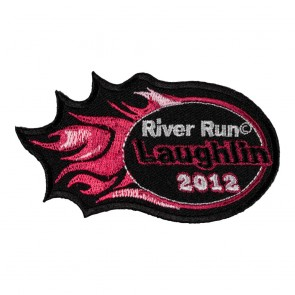 Embroidered 2012 Laughlin River Run Pink Flames Event Patch