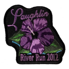 2012 Laughlin River Run Purple Flower 30th Annual Event Patch