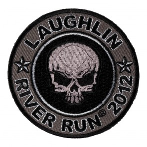 Sew On 2012 Laughlin River Run Grey Skull Round Event Patch