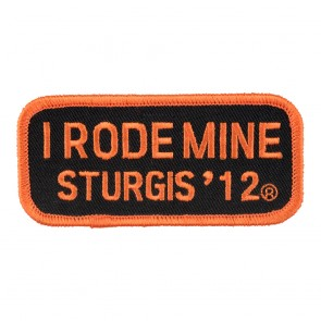 2012 Sturgis I Rode Mine Orange Rally Patch