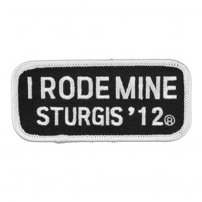 2012 Sturgis I Rode Mine White Rally Patch