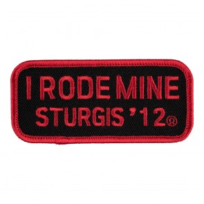 Sturgis I Rode Mine Red Patch_F
