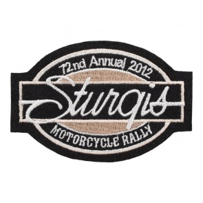 2012 Sturgis Motorcycle Rally 72nd Annual Bar & Oval Patch_F
