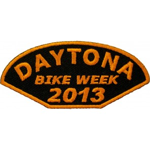 2013 Daytona Bike Week Half Moon Orange Event Patch