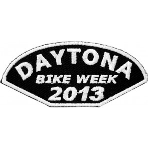 2013 Daytona Bike Week Half Moon White Event Patch