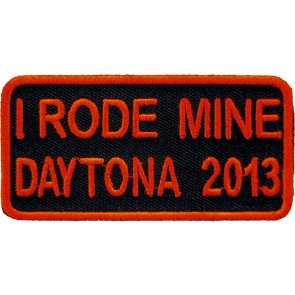 2013 Daytona Bike Week I Rode Mine Red Event Patch