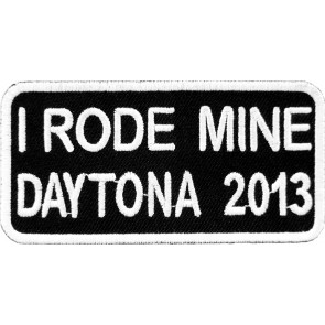 2013 Daytona Bike Week I Rode Mine White Event Patch