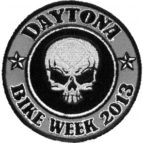 2013 Daytona Bike Week Grey Skull Round Event Patch