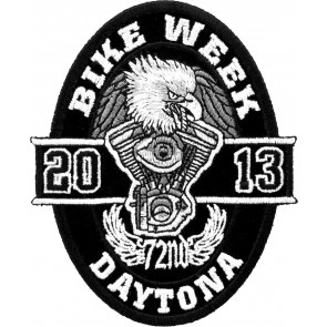 2013 Daytona Bike Week 72nd Black Oval Eagle Event Patch