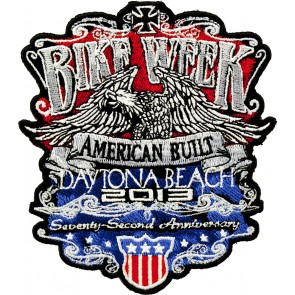 2013 Daytona Bike Week American Built Patriotic Eagle Event Patch