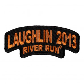 Sew On 2013 Laughlin River Run Stacked Orange Rocker Event Patch