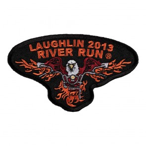 Iron On 2013 Laughlin River Run Flaming Eagle Event Patch