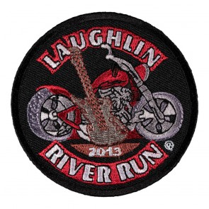 Sew On 2013 Laughlin River Run Guitar & Motorcycle Event Patch