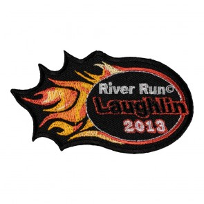 Embroidered 2013 Laughlin River Run Orange Flames Event Patch