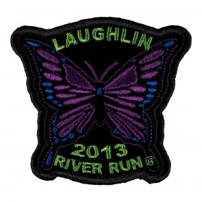 Embroidered 2013 Laughlin River Run Purple Butterfly Event Patch