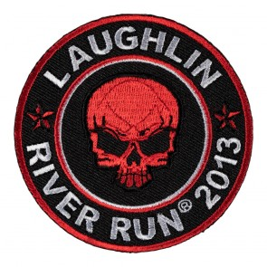 Iron On & Sew On 2013 Laughlin River Run Red Skull Round Event Patch