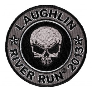 31st Annual 2013 Laughlin River Run Grey Skull Round Event Patch