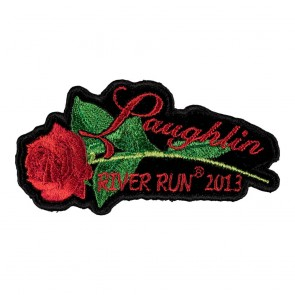 Embroidered 2013 Laughlin River Run Red Rose & Stem Event Patch