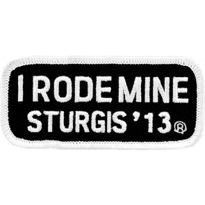 2013 Sturgis I Rode Mine White Rally Patch
