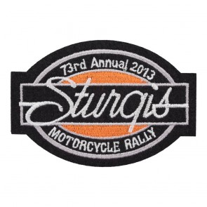 2013 Sturgis Motorcycle Rally 73rd Annual Bar & Oval Patch_F