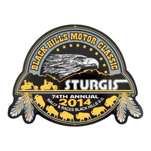 2014 Sturgis 74th Official Black Hills Motor Classic Metal Sign