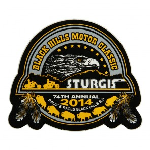 Official Sturgis 2014 74th Annual Black Hills Motor Classic Eagle Decal