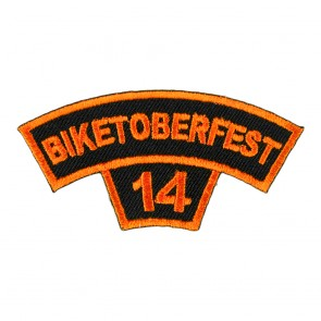 2014 Biketoberfest Orange Rocker Event Patch