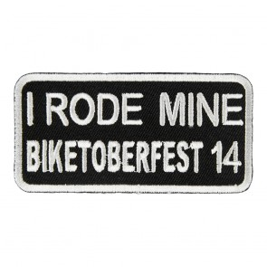 2014 Biketoberfest I Rode Mine White Event Patch