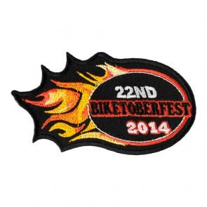 2014 Biketoberfest 22nd Orange Flames Event Patch