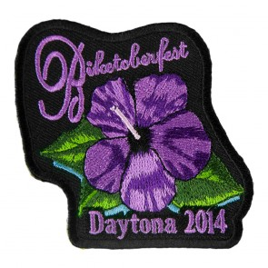 2014 Biketoberfest Daytona Purple Flower Event Patch