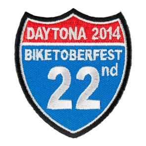 2014 Biketoberfest Daytona 22nd Road Sign Event Patch