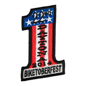 2014 Biketoberfest Daytona 22nd US Flag #1 Event Patch