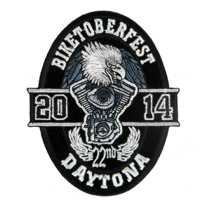 2014 Biketoberfest Daytona Oval Eagle Event Patch