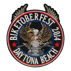 2014 Biketoberfest Daytona Riding Eagle Patriotic Event Patch