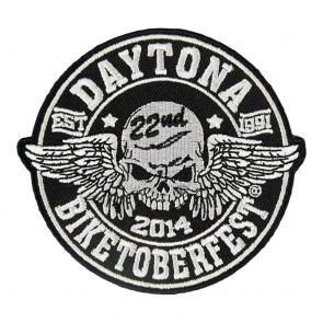 2014 Biketoberfest Daytona 22nd Winged Skull Event Patch