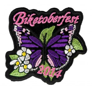 2014 Biketoberfest Purple Butterfly Flowered Event Patch