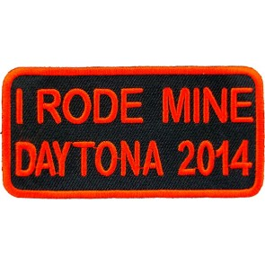 I Rode Mine Red Patch